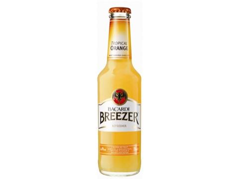 Bacardi Breezer Tropical Orange, 4 Pack
