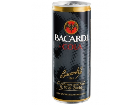 Bacardi Cola 4 Pack, Can 0.25