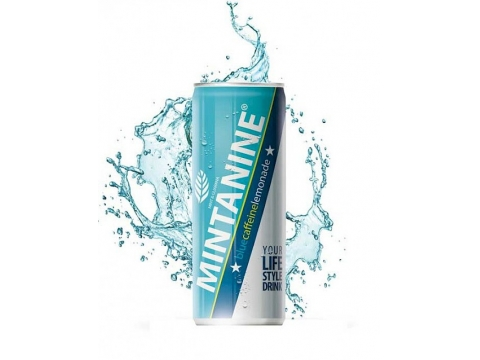 Mintanine Blue Caffeine Lemonade, Can 0.25